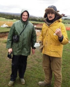 Blustery conditions with Norman and Steve